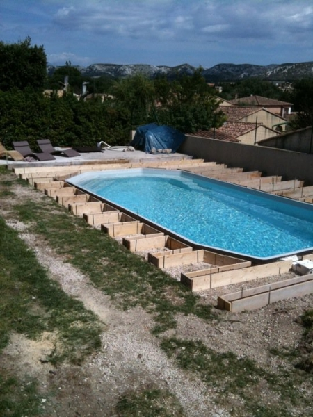 Amenagement contour piscine for Club piscine bois des filion